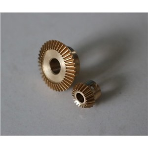 0.5M-20/40T(Speed ratio-1:2) Precision mini copper bevel gear--inner hole:4mm/6mm