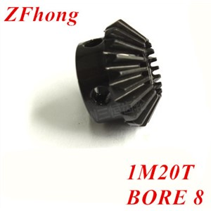 2pcs 1M20T  Metal Bevel Gears Module=1 Teeth=20  bore=8mm