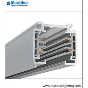 Wholesale 1 meter track rail for track lighting fixture, track rail 4 wire 1 meter x 6pcs/lot aluminum track rail for EU