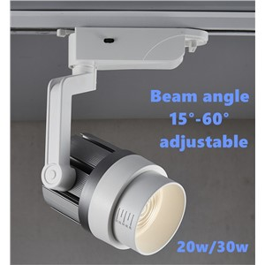 LED Adjustable Fixed Track Light AC85-265V COB 20w/30w spot light for Shops cabinets home decoration