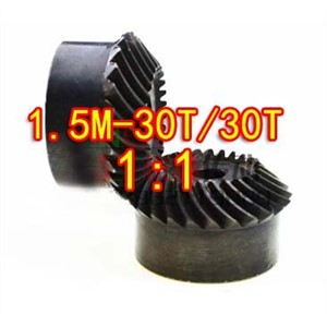 1.5M-30/30T -1:1 Precision Helical Spiral Bevel Gear-Dimaeter: 47mm-2pcs/set
