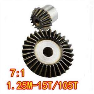 1.25M-15T/105T(7:1)Precision 90 Degree Cone Bevel Gear Umbrella Steel Gear