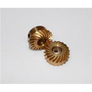 Diameter:12.7mm Hole d:5mm 0.6M-20Teeths Copper Spiral helical bevel gear combination modified car model differential