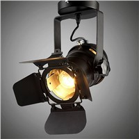Industrial Lift Ceiling Lamp Bar Clothing Personality Retro Track Light Vintage Absorb Dome Light with GU10 Bulb