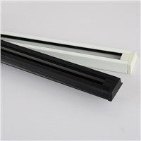 Led track lighting rail strip 0.5meters 1meters full set of clothing store slideway copper guide strip black and white joint ZH