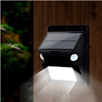 solar lamp motion sensor LED light outdoor waterproof for garden wall lights outdoor street lamps with colorful lighting 12 LED