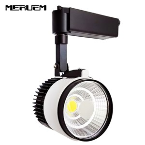 Industrial 10W/15W/20W/30W COB LED track light led rail lamp leds spotlights  lighting fixture for shop store spot lighting