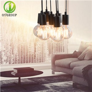 Iron Black Ceiling Lamp 7 Heads Ceiling Suspension Type Lighting Retro Loft Industrial Home Decoration Hanging Lighting fixture