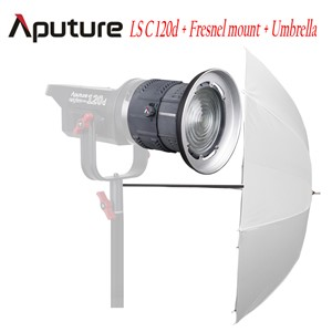 Aputure LS C120D + Fresnel mount + Soft Umbrella Kit COB studio light TLCI/CRI 97 LED light film photography lights with V mount