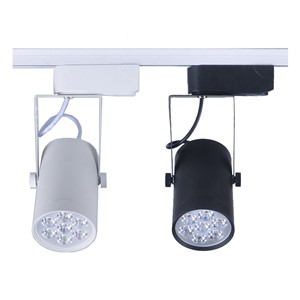 1pcs 7W led track light AC110V 220V aluminum white and black shell rail ceiling lighting spotlight
