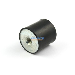 4 Pieces 25*25mm M6 Female - Female Rubber Anti Vibration Mount Bobbin Isolator