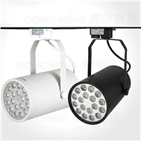 High Power White/Black Ce&RoHS 18w LED track light  supermakret store spot lamps led spot track lighting