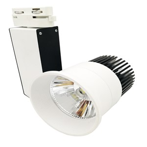 NEW arrival 20W LED COB Track light AC85~265V black add white body decorative supermakret store led track lamp warm white/white