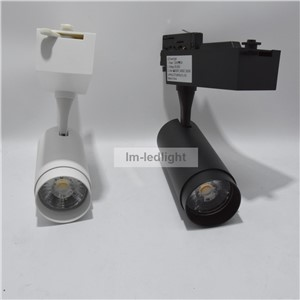 4 wire 3 circuit track light 20W in white black track head Bridgelux 3000K 4000K 6000K LED spotlight rail free ship 20pcs/lot