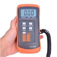 Professional Digital Lux Meter 0.1~200,000 Lux/FC LCD Light Meter Detect Light Intensity Precise Data Hold Peak Reading Hold