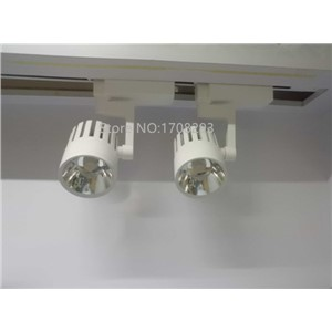 LED Track Light 2pcs/lot 20W30W COB spotlight rail track light  2-wire, 3-wire EU UK US RU  85V-265V Warm Cold  White