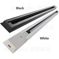 Led track light rail connector,track rail,Universal two-wrie rails,aluminum track,track light fixtures,Black,White