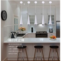 Cone/Straight 12W morden led pendant lamp for dinning room cob downlight spotlights bar creative decorative hanging lamp