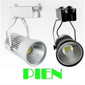 20W COB led track lamp kitchen Indoor spot lighting iluminacion lampara 85V~265V White/Black fixture CE&ROHS by DHL 12pcs