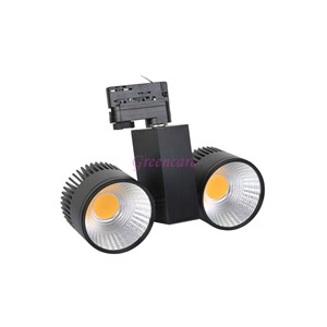 Bright 20W COB LED Track Light Commercial LED Light 110-240V 360 degree rotatable 2/3/4 wire available Non Dimmable 10pcs/lot