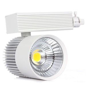 1pcs Aluminum LED Track Light 20W COB Rail Lights Spotlight Equal 60W Halogen Lamp AC85-265V Warm/Cold White Spot Lamp