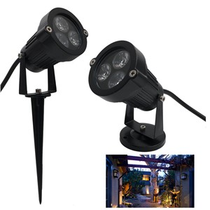 10pcs/lot outside light 3W 6W 9W garden lighting led outdoor Spotlight Lights  12V 24V 110- 240V Spike garden spotlight