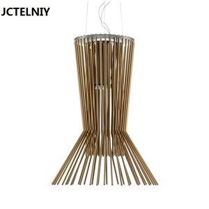 Fashion iron pendant light engineering brief pendant light Cage design droplight