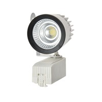 COB LED track light 15W white ceiling LED track spot light 15W LED rail light AC85-265V 15W COB LED track spotlight 15W