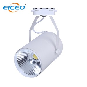 Hot sale 7w Led track light supplier white/black housing avaible COB track lights two lines wire 110lm/w free shipping CE