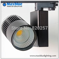 30W CREE COB LED Track light black housing, CRI 80Ra as shopping mall/ clothing store lighting lamp