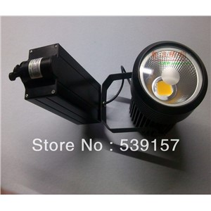 Free shipping High Quality COB 30w LED Track light LED Spotlight 85~100LM/W WW/CW,AC85~265V,2 PIN Integrated chips 8pcs/lot