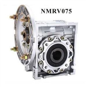 NMRV075 Worm Reducer 19mm 24mm 28mm input shaft 7.5:1 - 100 :1 Gear Ratio Worm Gearbox 90 Degree Speed Reducer