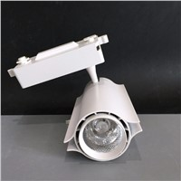 Free Shipping LED lighting fixtures commercial Aluminum warm&cool white 30W COB LED track lights 220V Free shipping