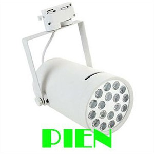 18W White LED track lamparas Indoor spot lighting for clothing shop Commercial Flexible Fixture 85-265V by DHL 6pcs