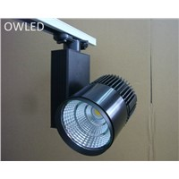 3 Phase/4 Wire  Europe Stype LED Track light  20W 30W Accent Clothes Store, Commercial Lighting