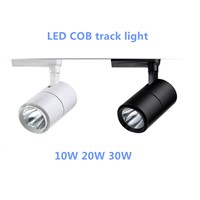 COB 10W 20W 30W Led Track light aluminum Ceiling Rail for Shop Hotels Accent Task Wall Art Exhibition Retail lighting