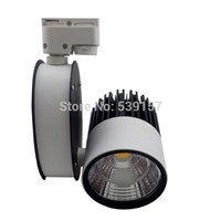 Free Shipping 30w integration LED track light for store/shopping mall lighting lamp Color optional White/black Spot light