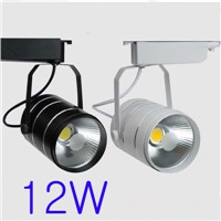AC90-260V 12W Best Quality Cob Led Track Spot Lamp  White/Black Body Aluminum Material