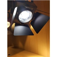3 Phase/4 Wire  Europe Stype 20W 25W LED Track light with 4 Lightbarrier Accent Light for Clothes Store, Restaurant, Bar