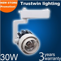COB LED track light 30W white ceiling LED track spot light 30W LED rail light 220V 30W COB LED track spotlight 30W