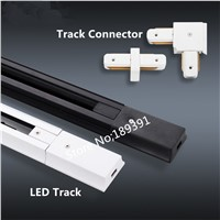 10XPCS  DHL 1m Led track light rail connector,track rail,Universal two-wire rails,aluminum track,lighting fixtures,Black,White
