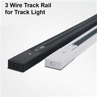 1M 3 Wire 1 Phase Circuit Aluminium Track Rail For LED Spotlight Lighting Track Systems Spot Light Rail 1 Meter Black White