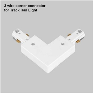 3 Wire Light Rail Track Connector Corner Connectors 3-wire Track fitting Global Track Rail Light led track rail connector