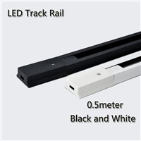 4pcs/lot 0.5m Aluminum LED track lighting rail 0.5m connector System Universal Rails Track Lamp Rail
