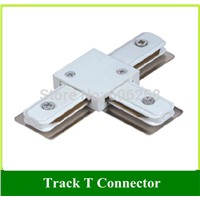 Two Wire LED Track Light Fittings / Lighting Track T Connector  three-way  5pcs