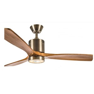 52inch with remote control antique ceiling fan light ceiling fans minimalism modern style LED fan lamp solid wood