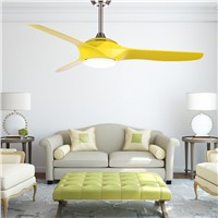 Modern Ceiling Fan Lamp LED Bulbs Brown Ceiling Fans With Lights Remote Control Led Light Living Room Diningroom lighting