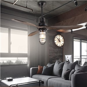 led e27 Loft Iron Wood Glass Ceiling Fan LED Lamp.LED Light.Ceiling Lights.LED Ceiling Light.Ceiling Lamp For Foyer