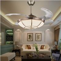 LED Modern Alloy Copper Glass Ceiling Fan LED Lamp.LED Light.Ceiling Lights.LED Ceiling Light.Ceiling Lamp For Foyer Bedroom