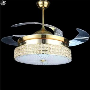 Modern led  restaurant lights living room Modern Fan invisible gold Ceiling Fans  Rmy-0228